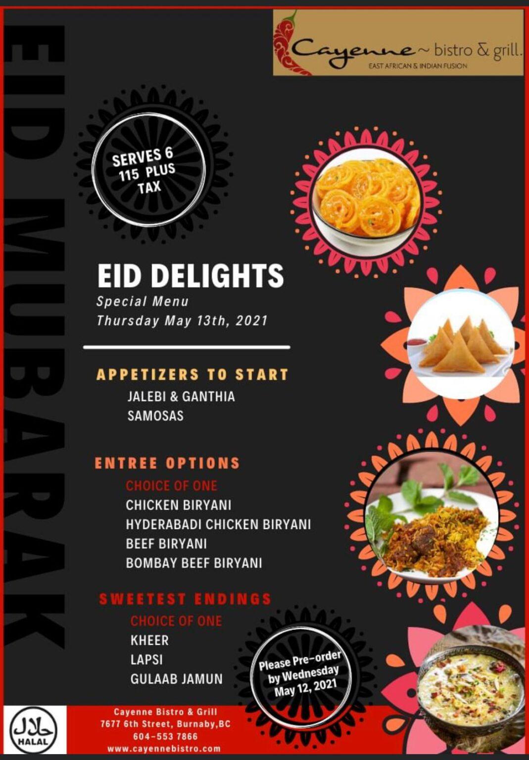 EID Delights at Cayenne Bistro